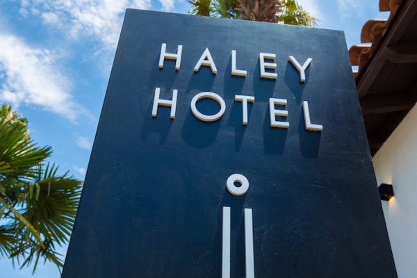 Photo of Haley Hotel sign