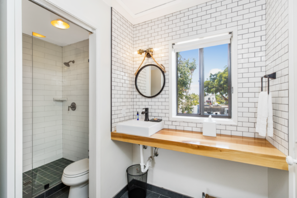 Photo of bathroom at Haley Hotel